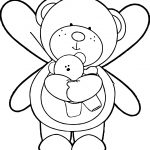 Angel Bear And Kid Bear Coloring Page