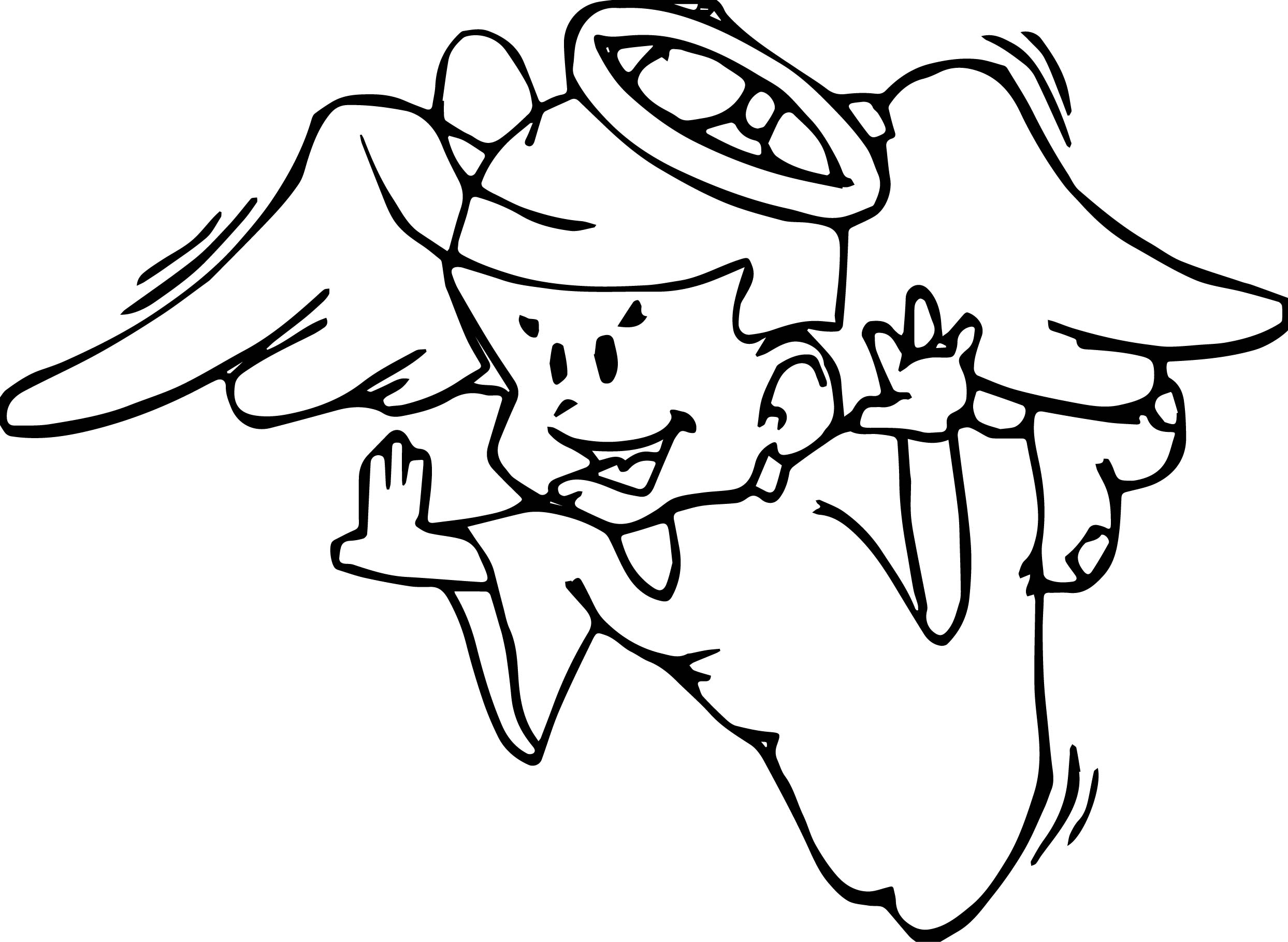 fly angel coloring pages - photo#12