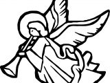Angel Figure Music Coloring Page