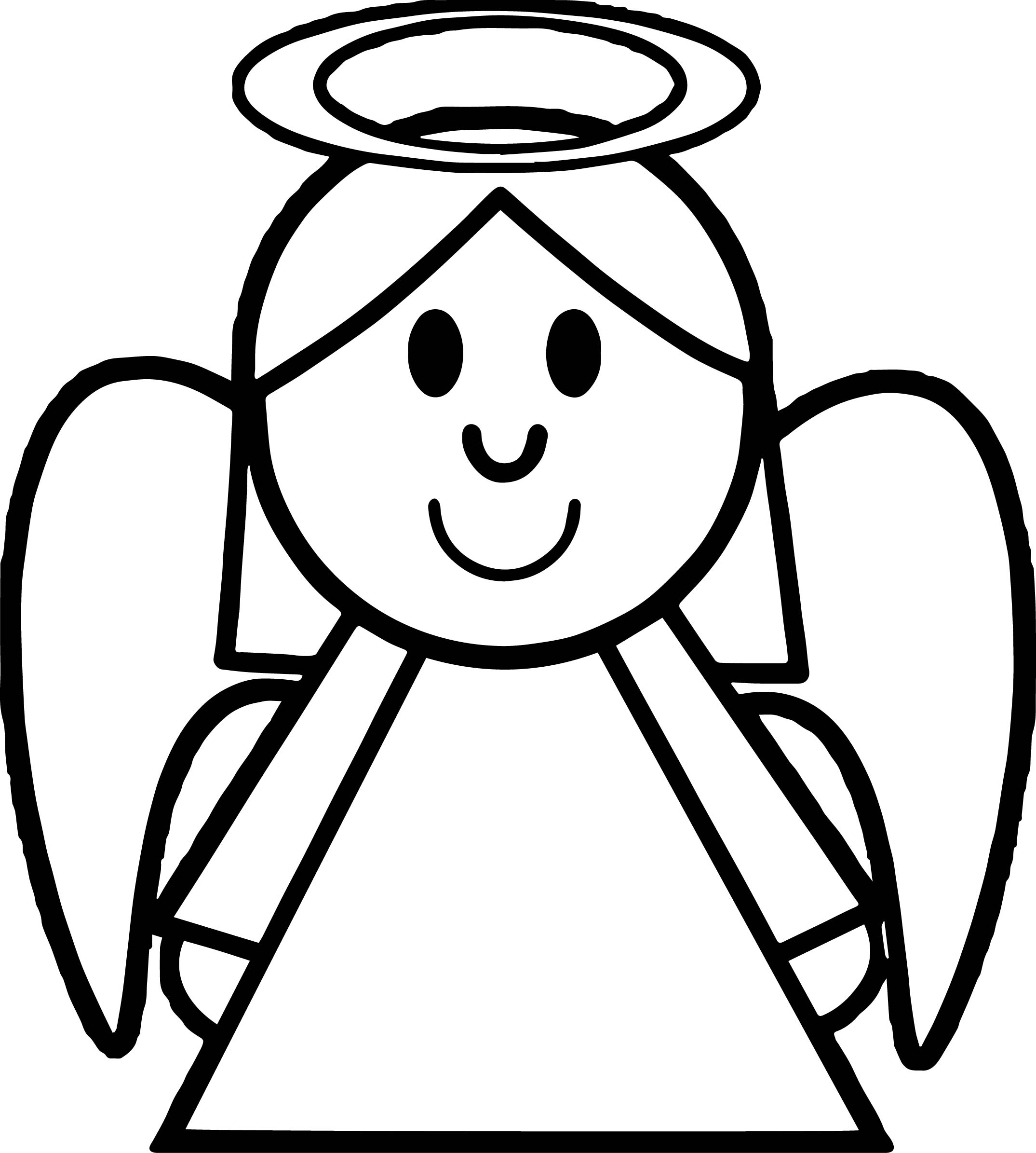 Angel Heal Coloring Page