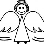 Angel Kid Basic Preschool Coloring Page