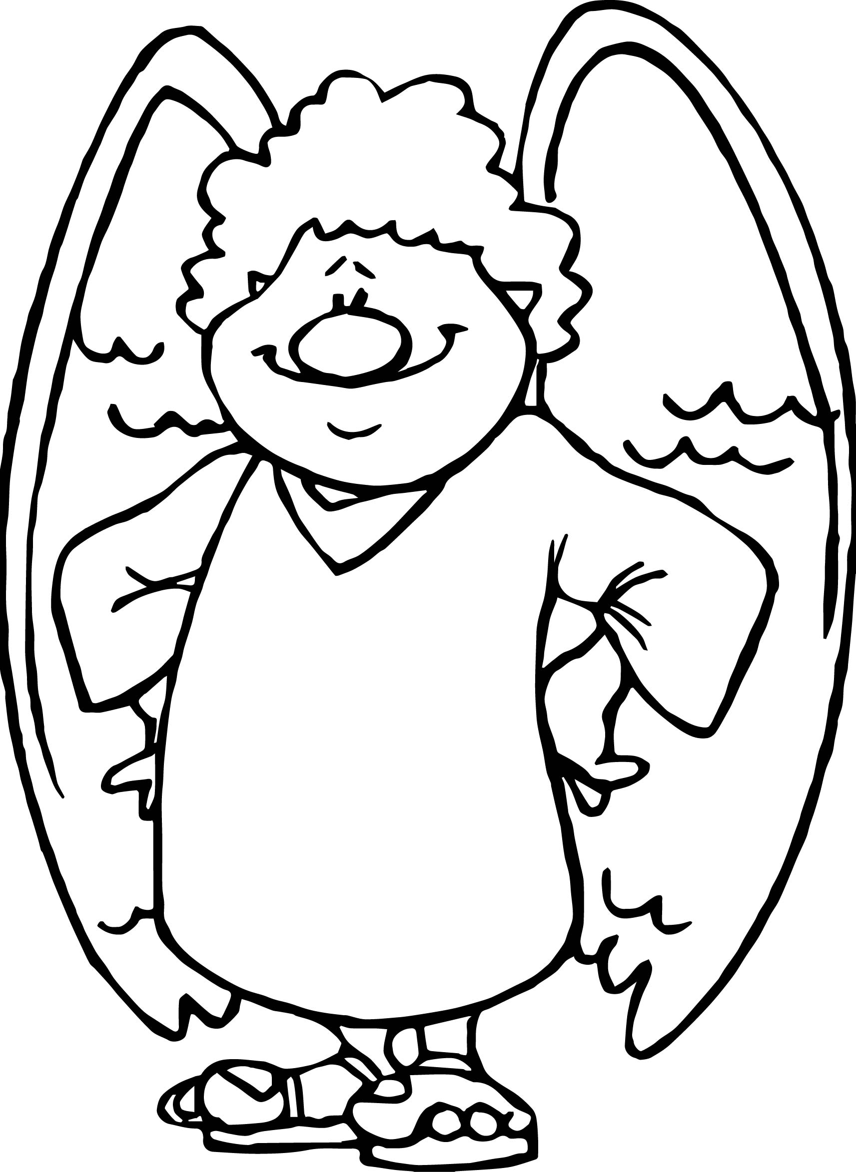 Angel Man Coloring Page
