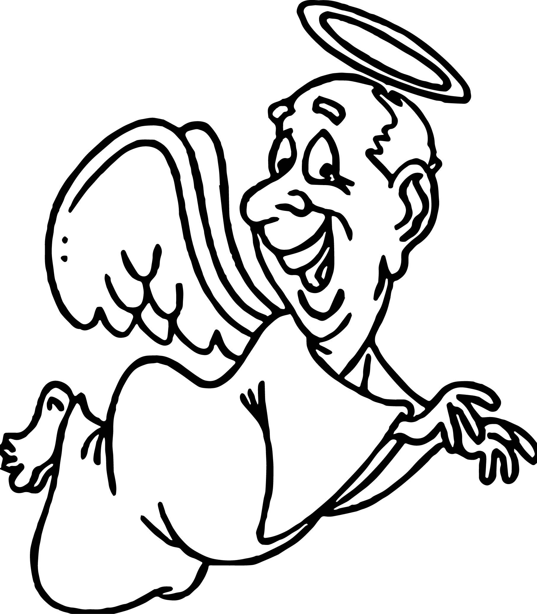 Angel Old Man Coloring Page