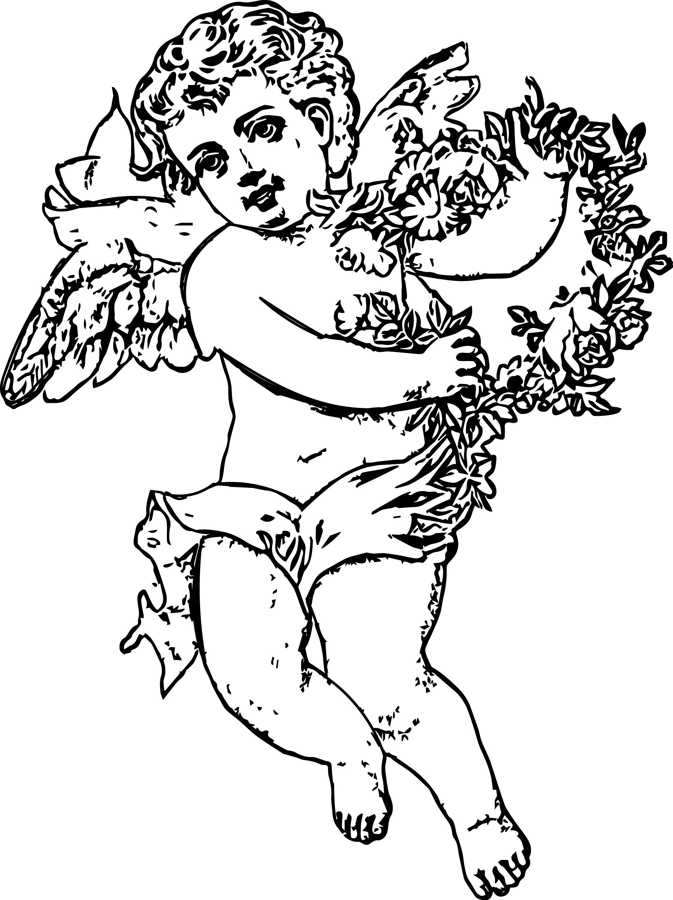Angel Sketch Coloring Page