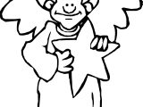 Angel Star Man Coloring Page