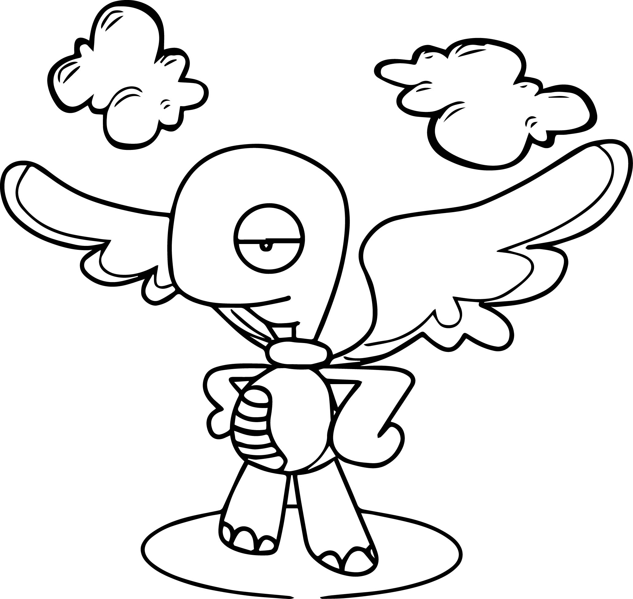 Angel Tortoise Turtle Coloring Page