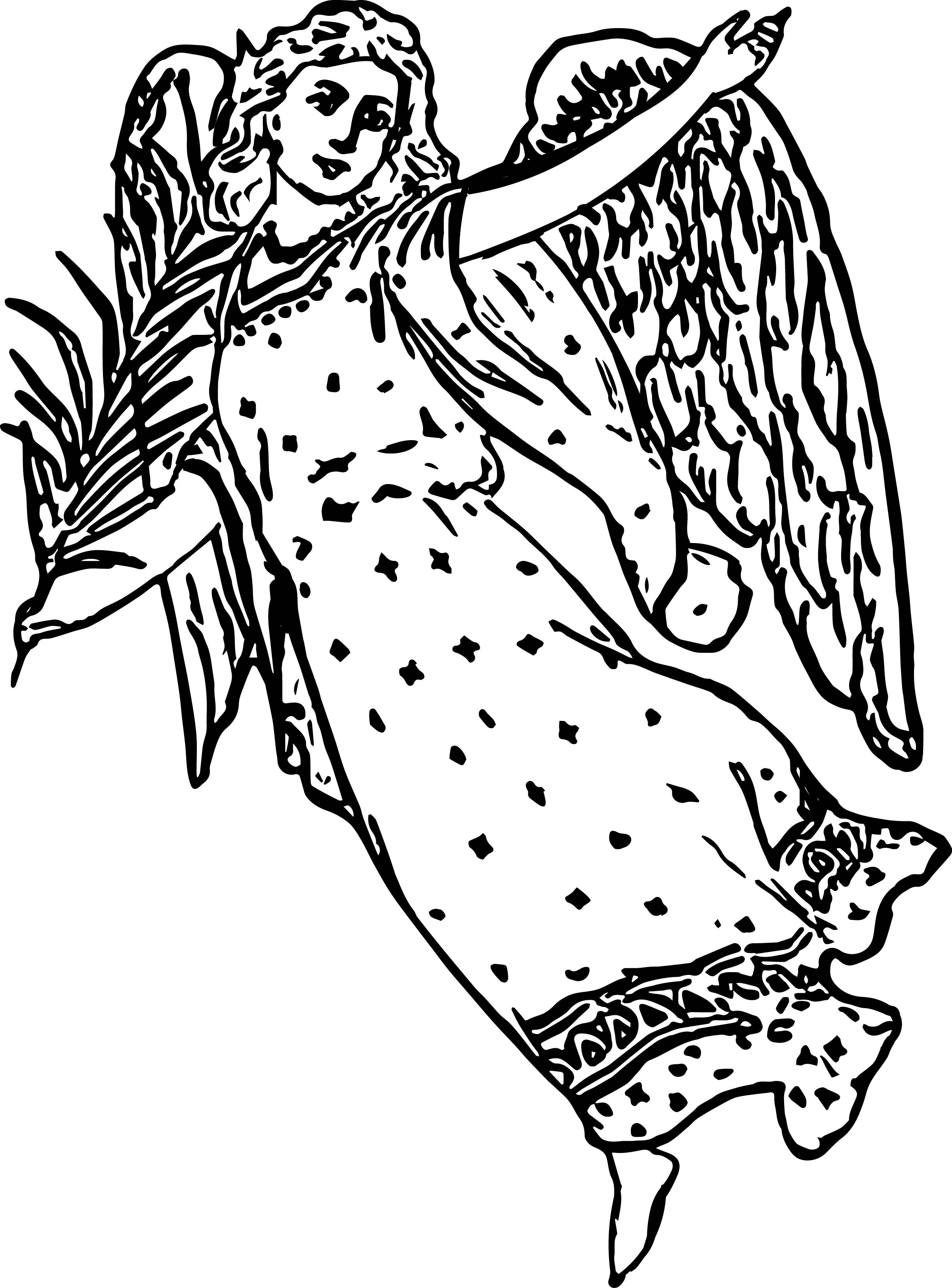 Angel Woman Coloring Page