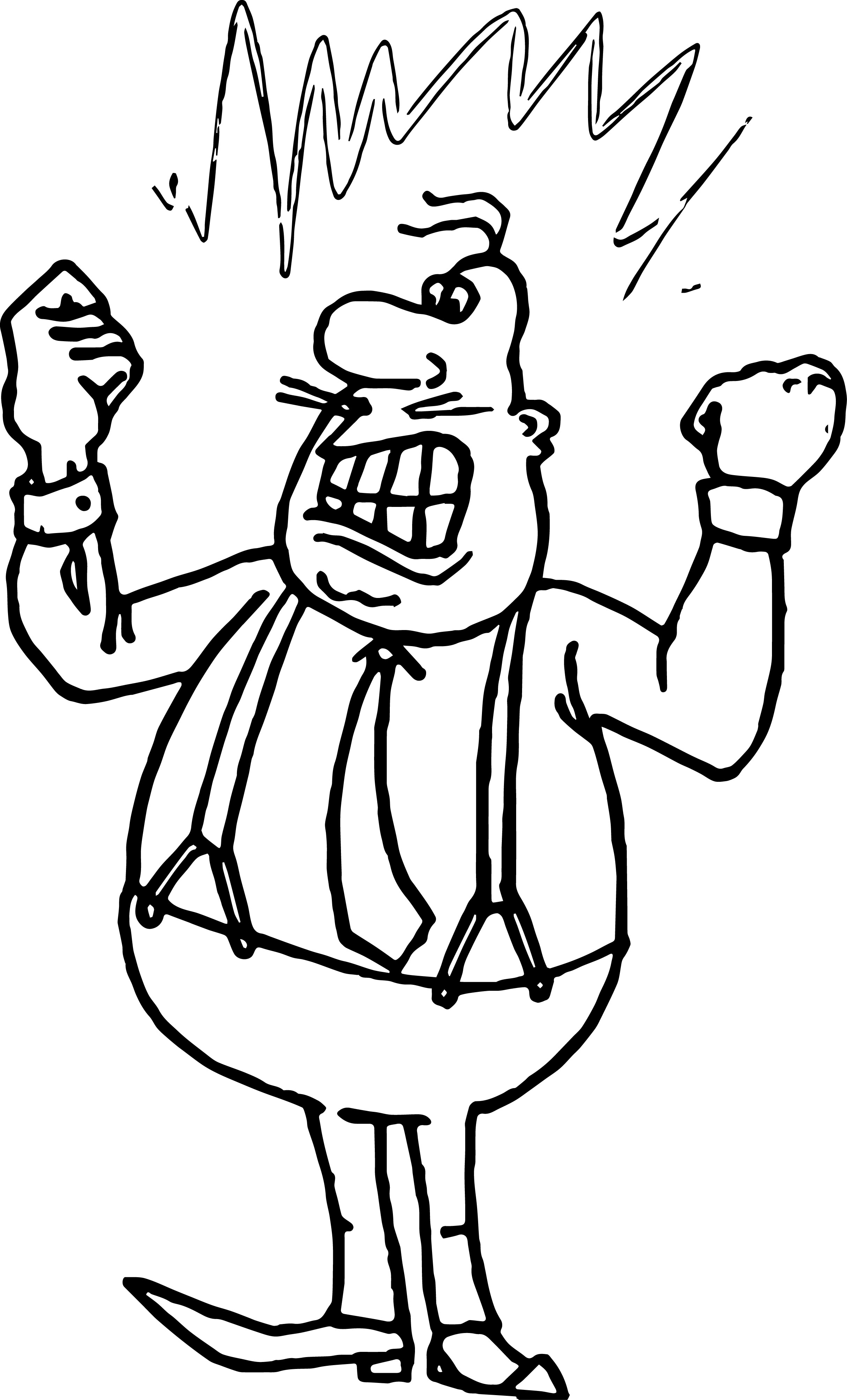 anger boss management coloring page