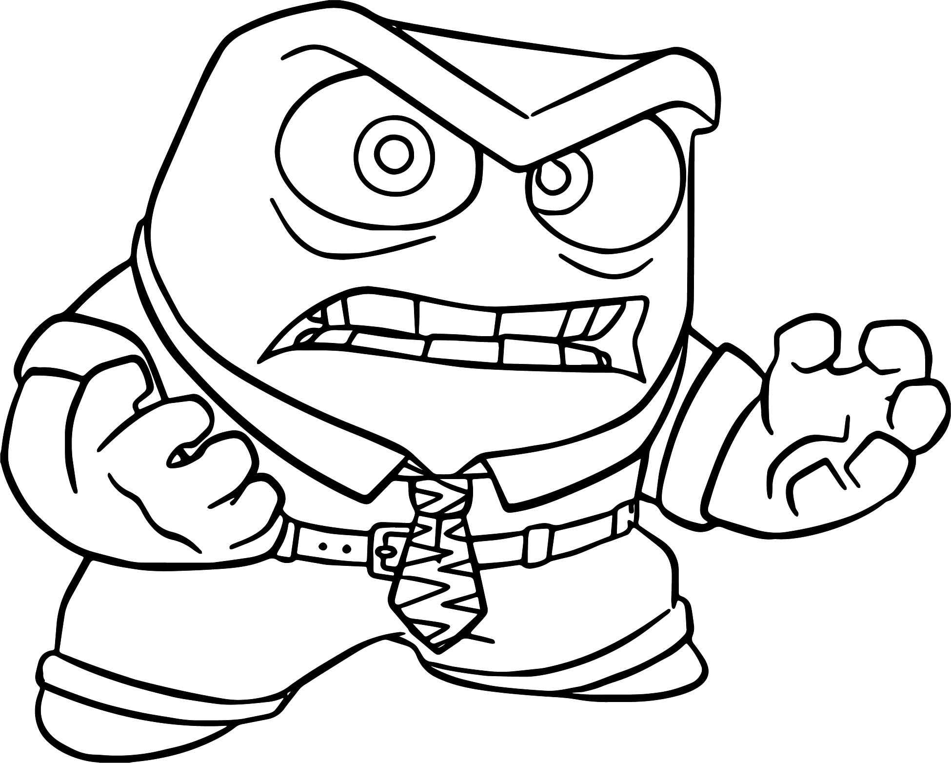 Anger Just Coloring Pages