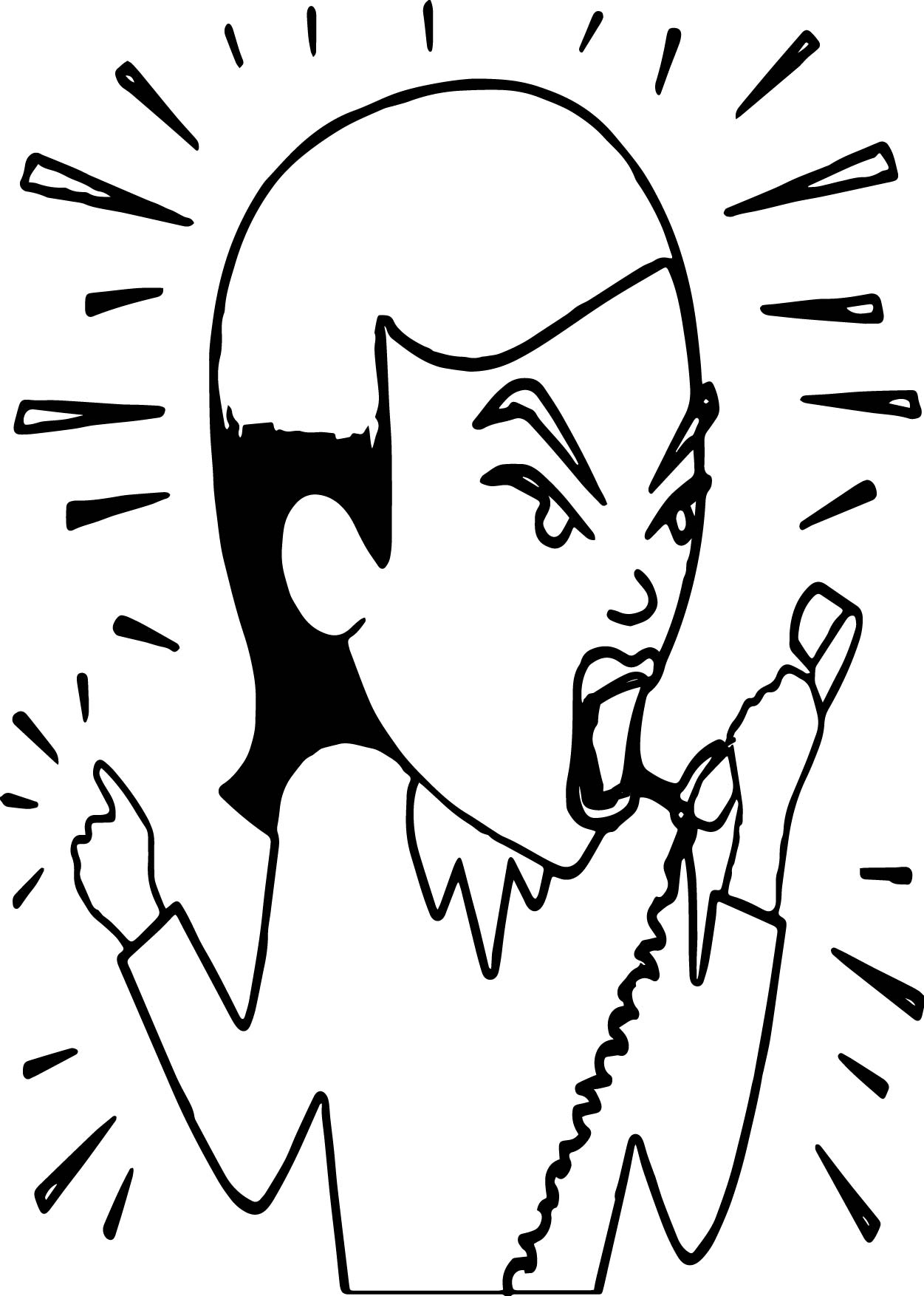 Anger Management Angry Woman Coloring Page