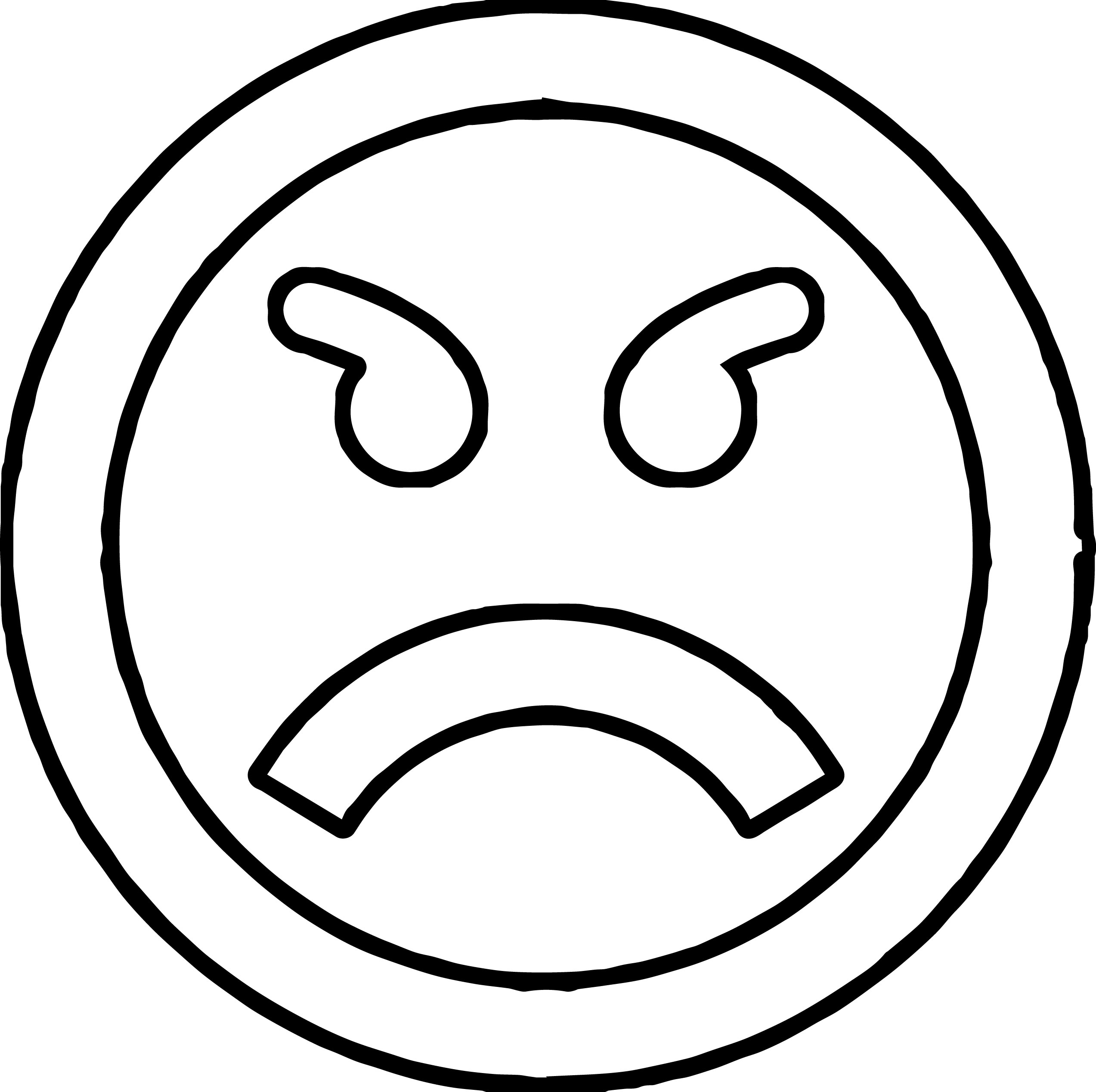 anger management circle coloring page
