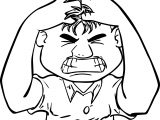 Anger Management Man Boy Coloring Page