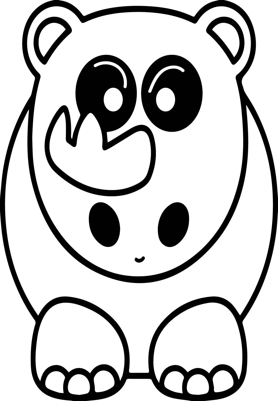 Angry Elephant Coloring Page