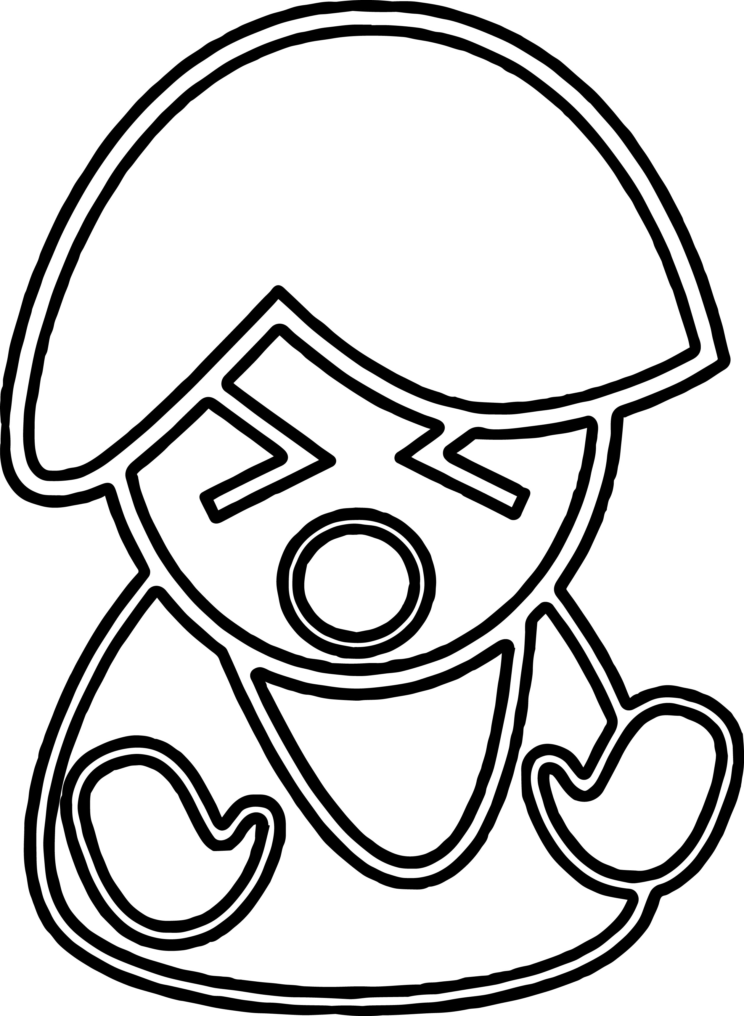 Angry Figure Coloring Page