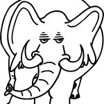 Angry Heavy Elephant Coloring Page