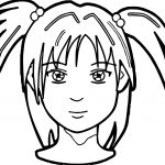 Anime Girl Face Coloring Page