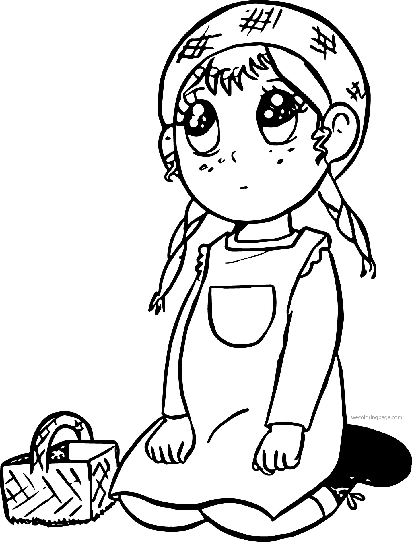 Anne Chan Of Green Gables Cartoon Coloring Page | Wecoloringpage.com