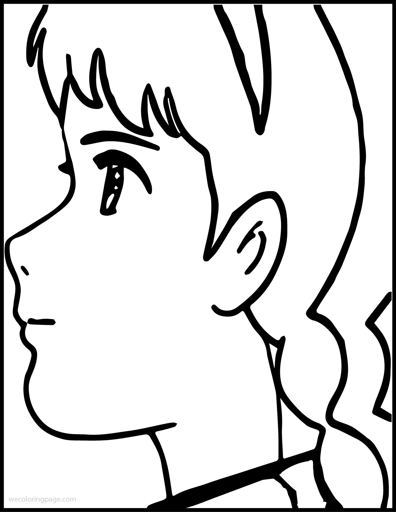 Anne Girl Of Green Gables Think Coloring Page