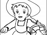 Anne Of Green Gables Anne Running For Picnic Coloring Page