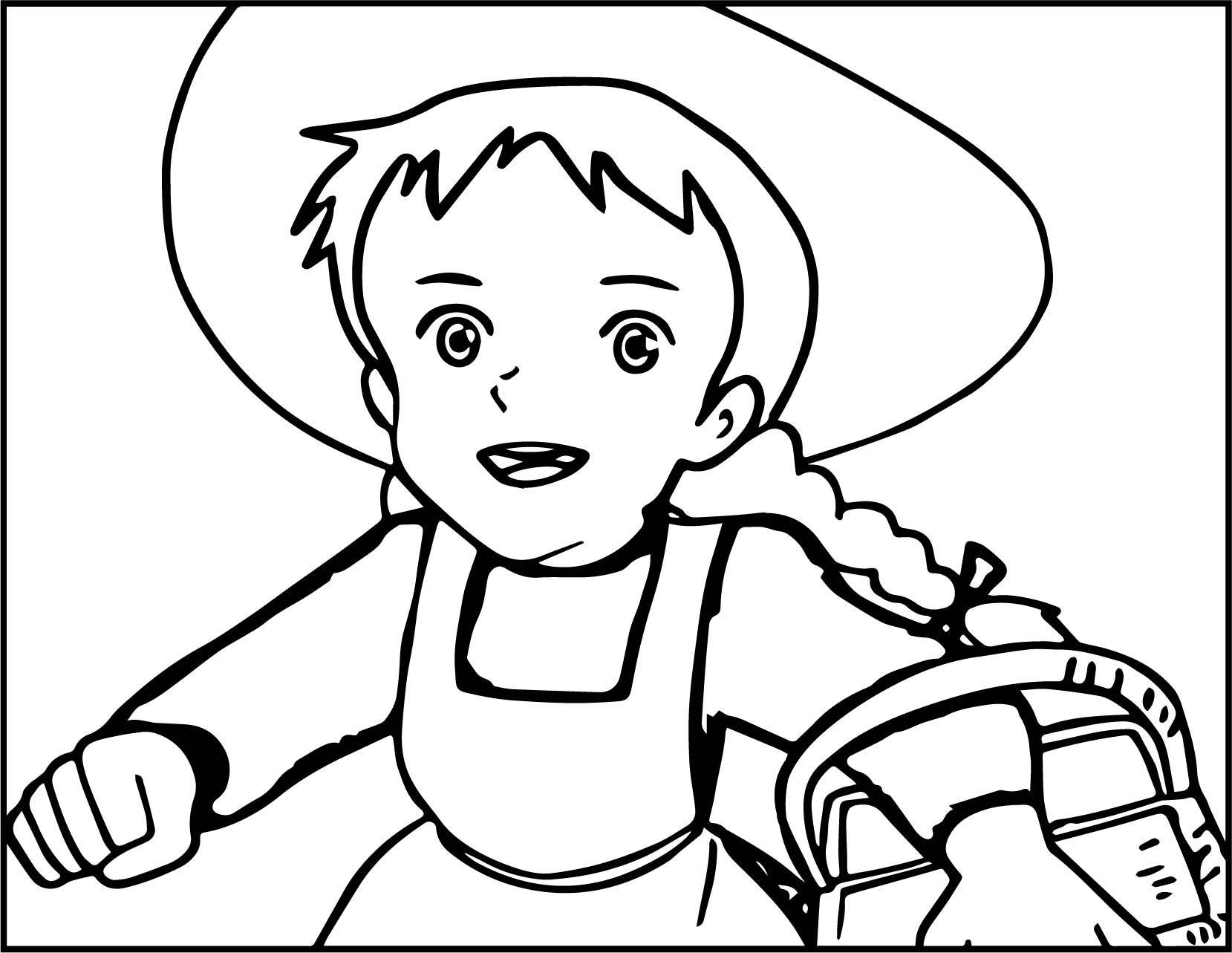 Anne Of Green Gables Anne Running For Picnic Coloring Page ...