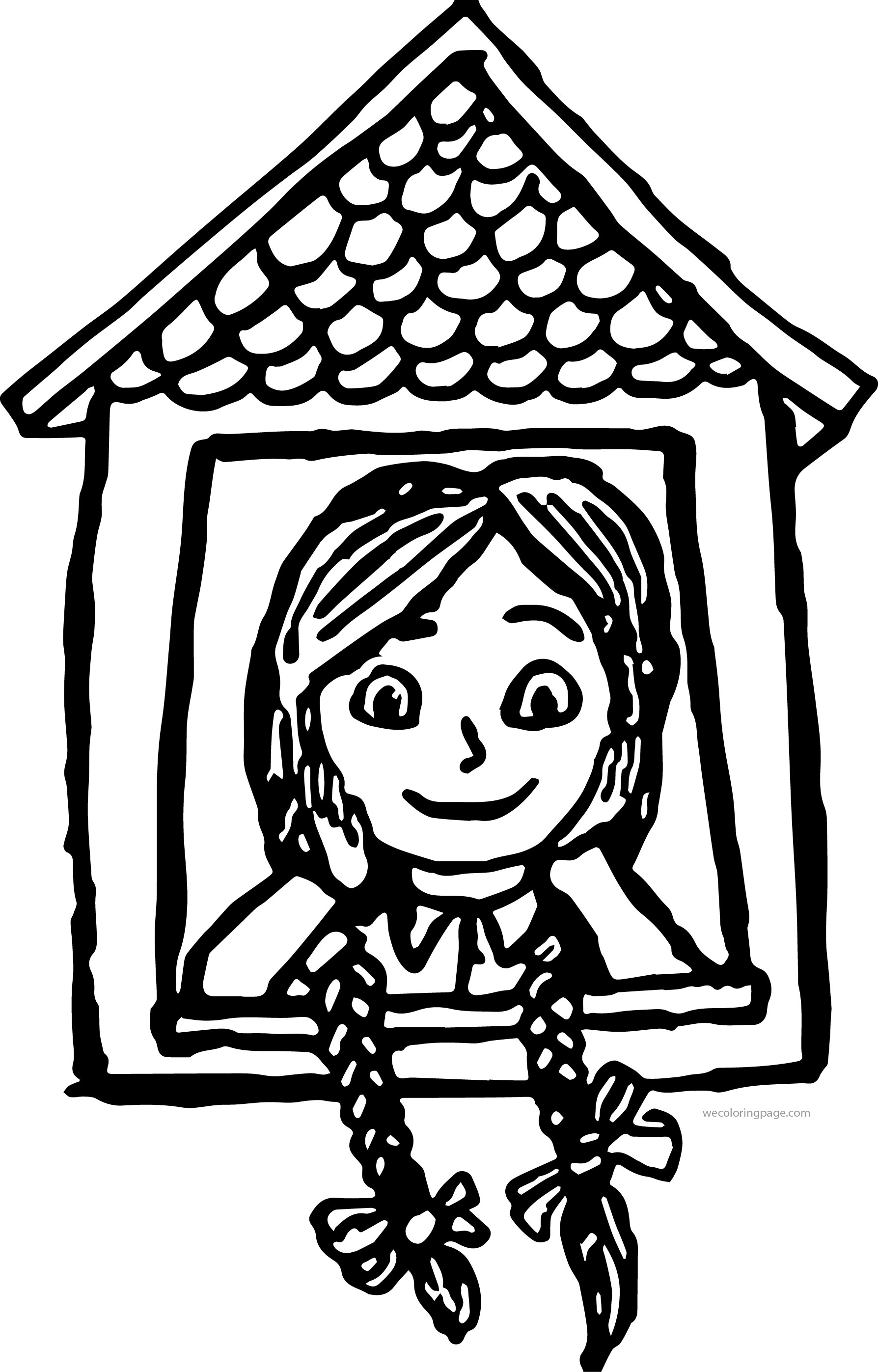 Anne Of Green Gables At The Window Coloring Page