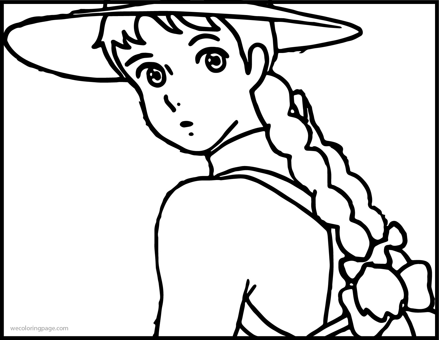 Anne Of Green Gables Image Coloring Page