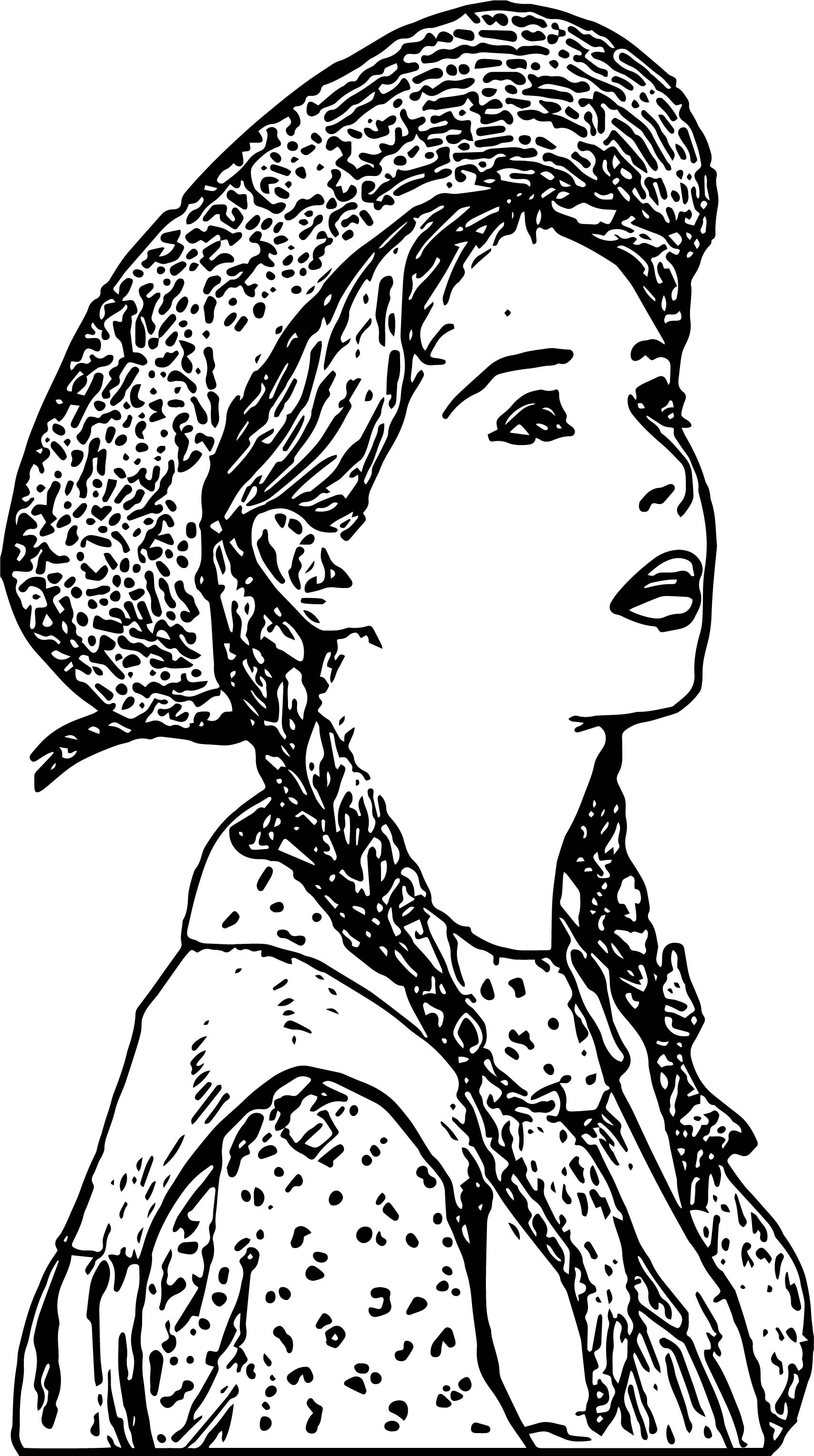 Anne Of Green Gables Realistic Look At The Sky Coloring Page