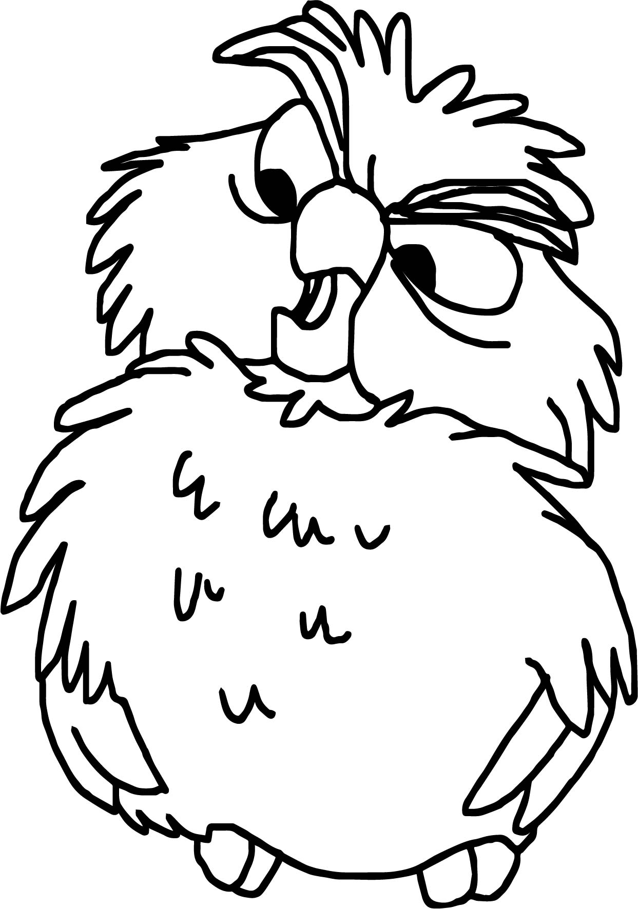 Archimedes Owl Talk Coloring Page