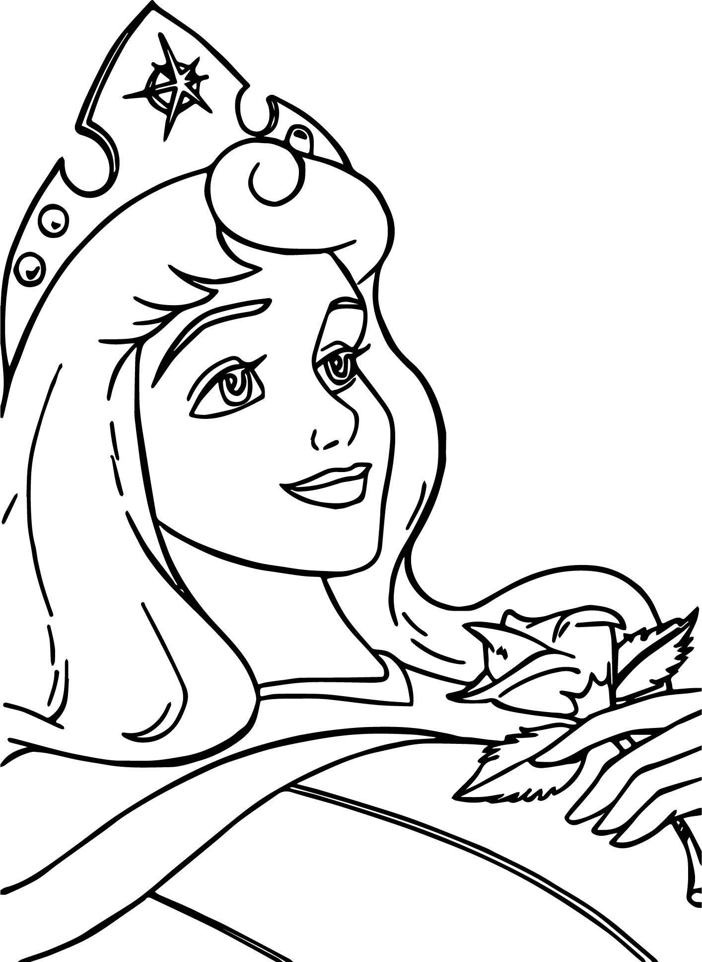 Aurora Awake Cartoon Coloring Page