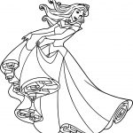 Aurora Dress Cartoon Coloring Page