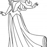 Aurora Pose Cartoon Coloring Page
