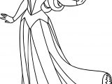 Aurora Pose Cartoon Coloring Page