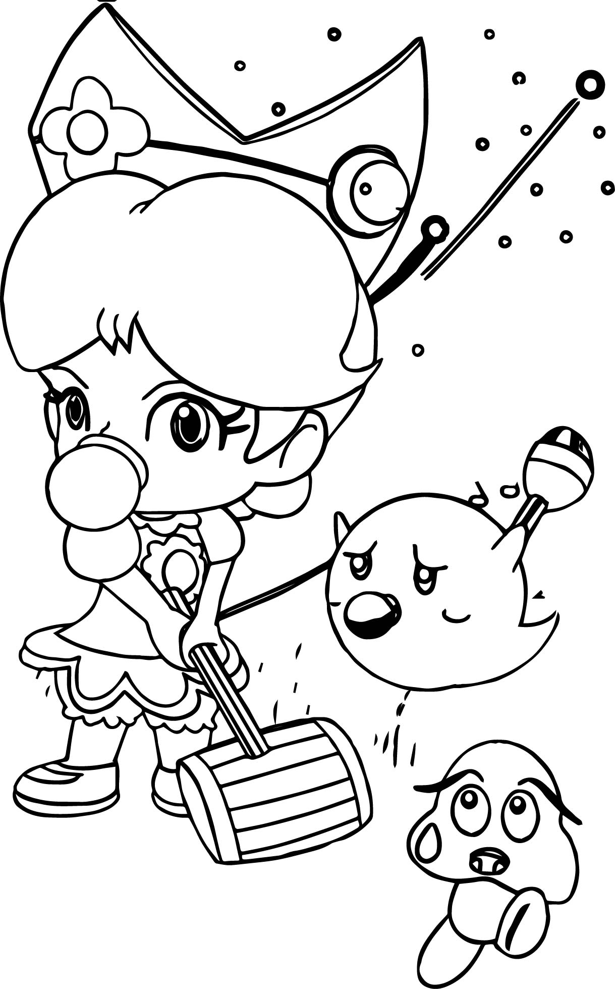 Baby Daisy And Friends Coloring Page