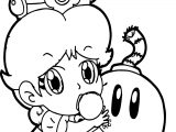 Baby Daisy Bomb Coloring Page