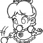 Baby Daisy Magic Wand Coloring Page