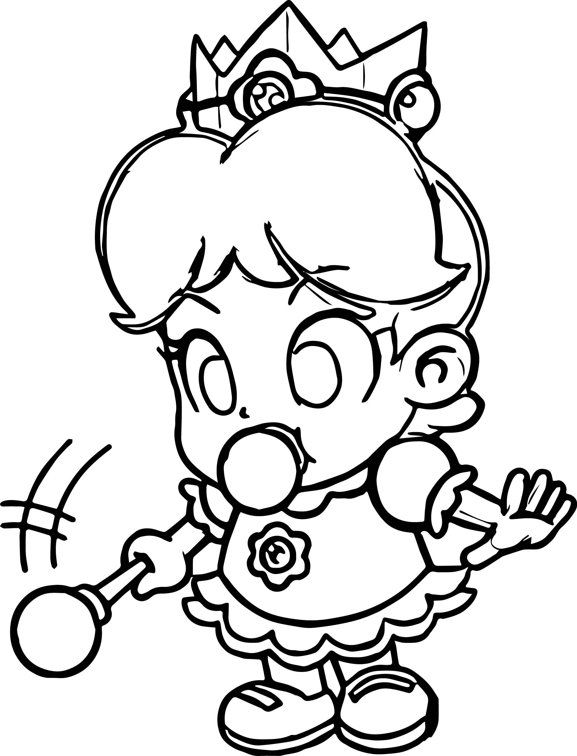 Baby Daisy Magic Wand Coloring Page