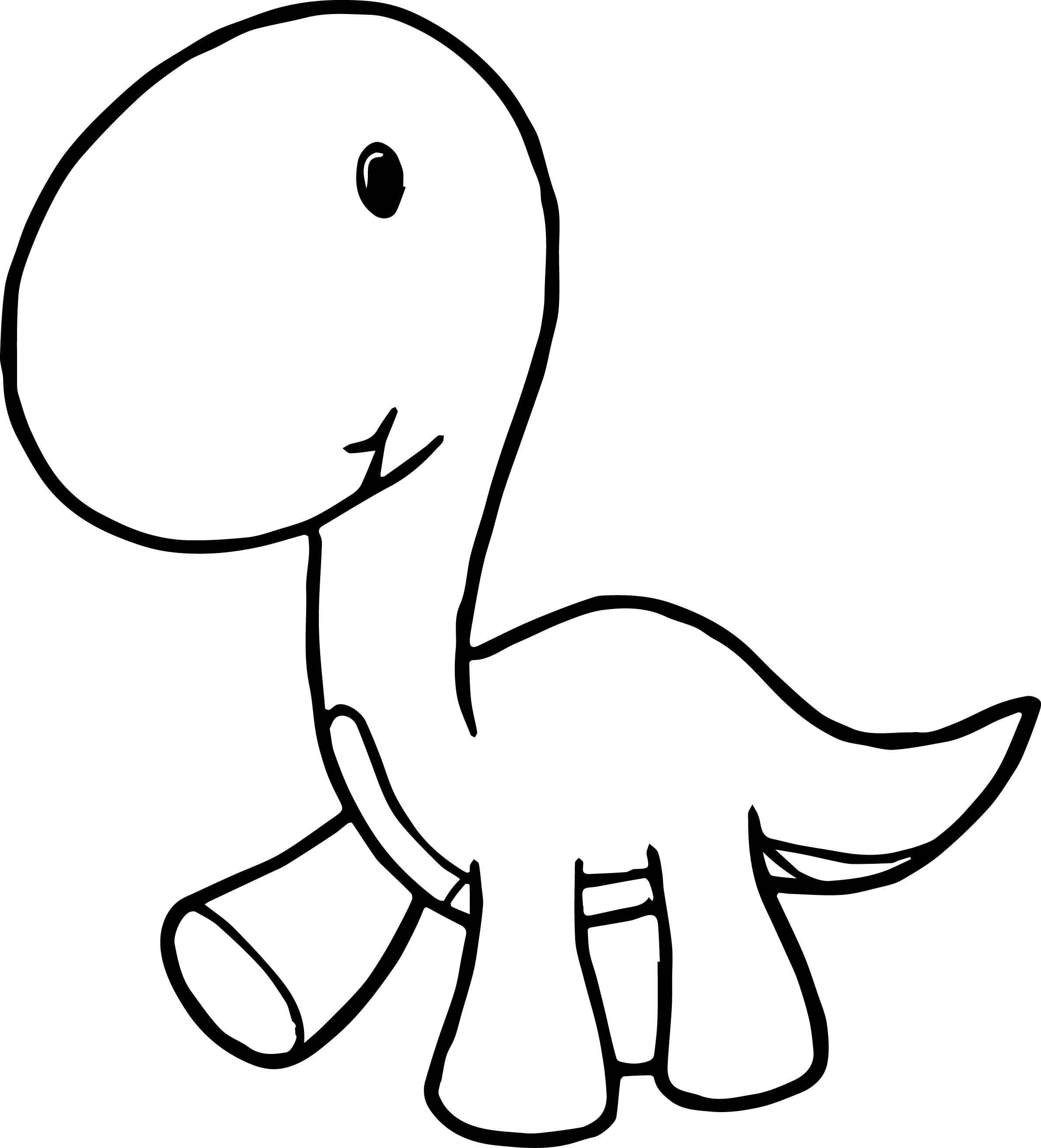 Baby Dinosaur Cartoon Coloring Page Wecoloringpage