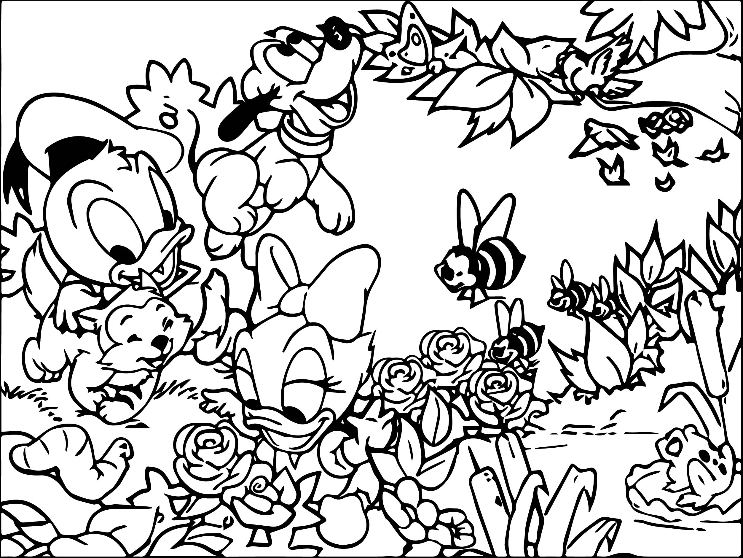baby donald and baby daisy wallpaper donald duck coloring page