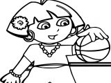 Baby Dora Play Time Dress Up Coloring Page