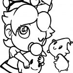 Baby Rosalina Peach Daisy And Rosalina As Babies Coloring Page