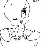 Baby Tweety And Bee Coloring Page
