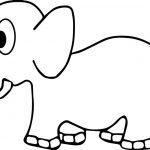 Basic Side Elephant Coloring Page
