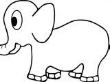 Basic Side Elephant Coloring Page