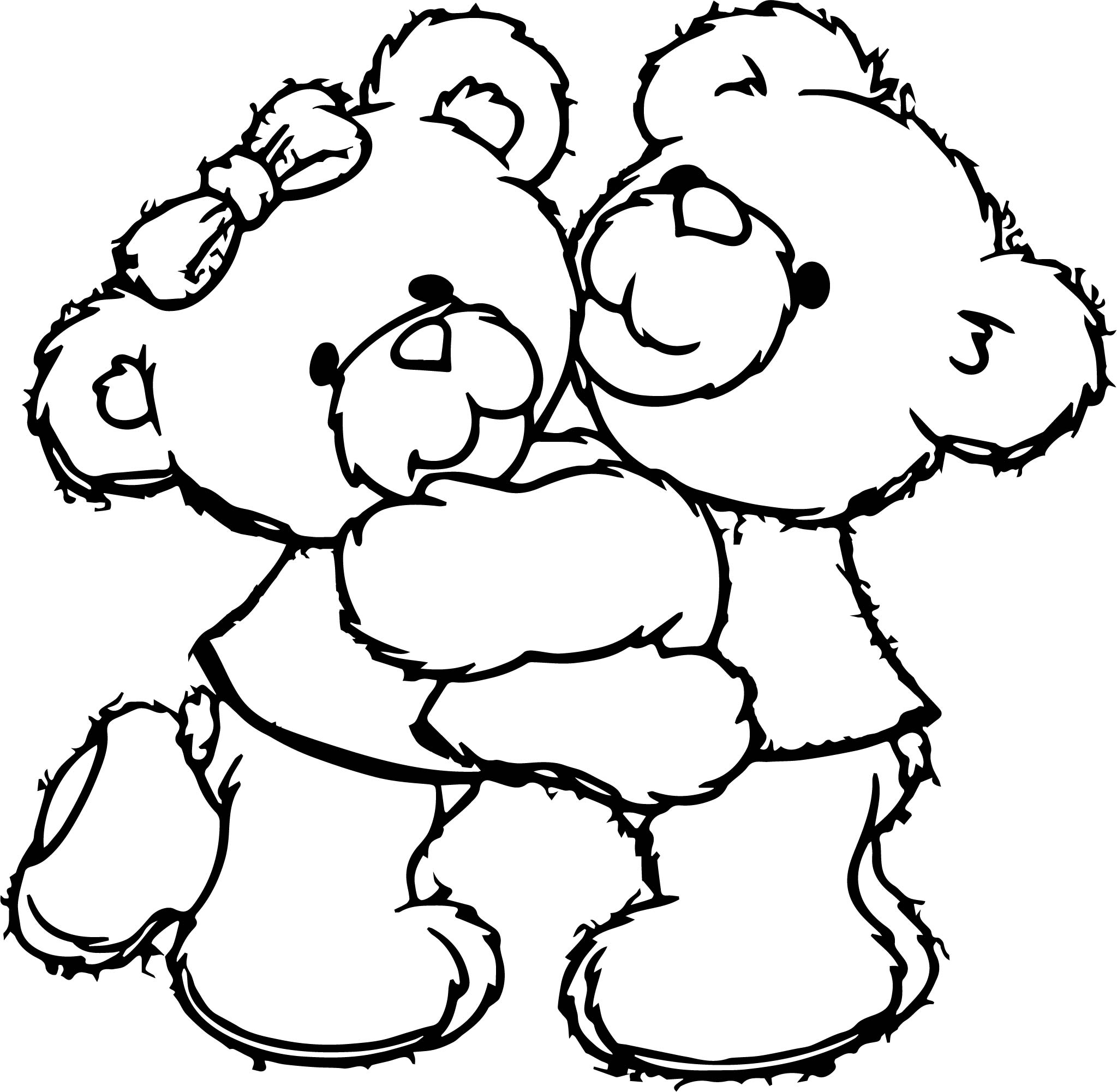 Bear Best Friends Coloring Page