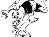 Ben Ten Alien Alieno Mastica Coloring Page