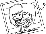 Best Friends Beautiful Memories Photo Coloring Page