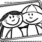 Best Friends Boy And Girl Coloring Pages