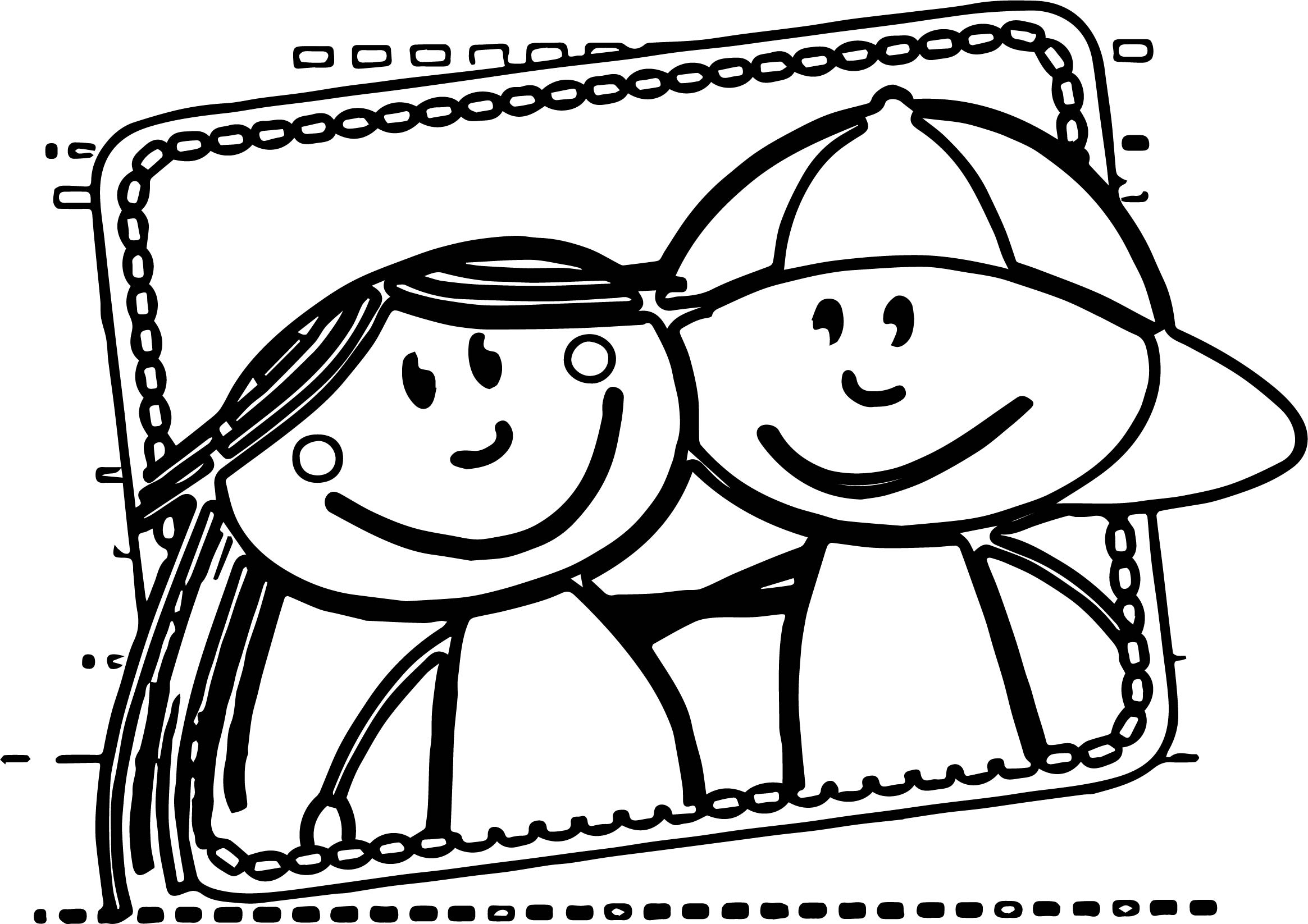 coloring pages about friendship - best friends boy and girl coloring pages