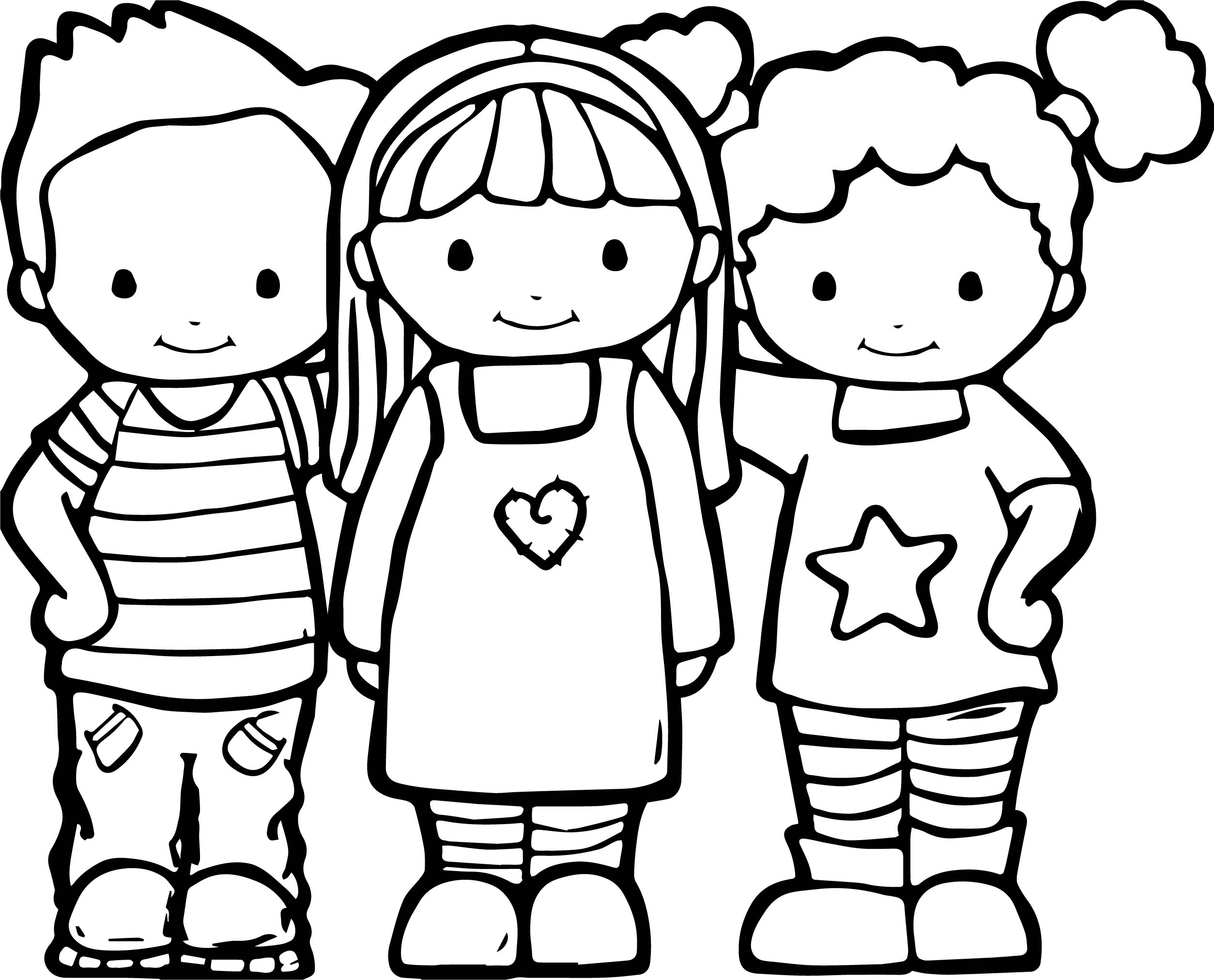 Best Friends Color Coloring Pages Wecoloringpage