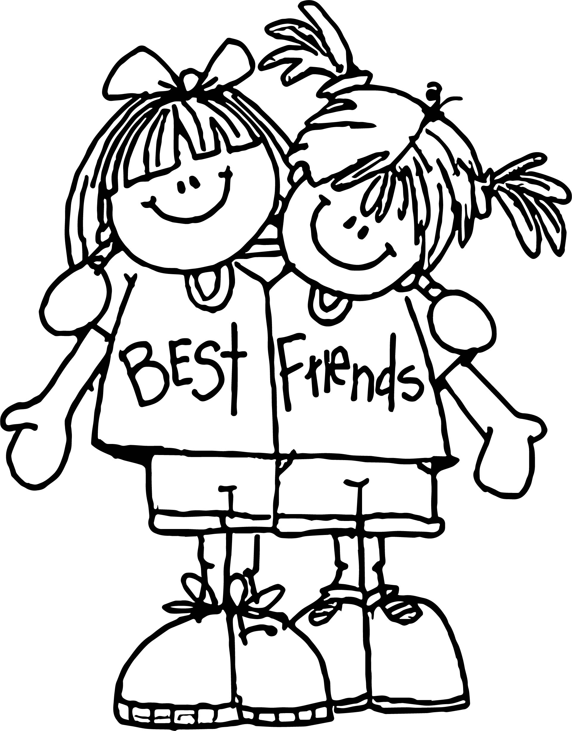 Best Friends Free Printable Coloring Page Wecoloringpage